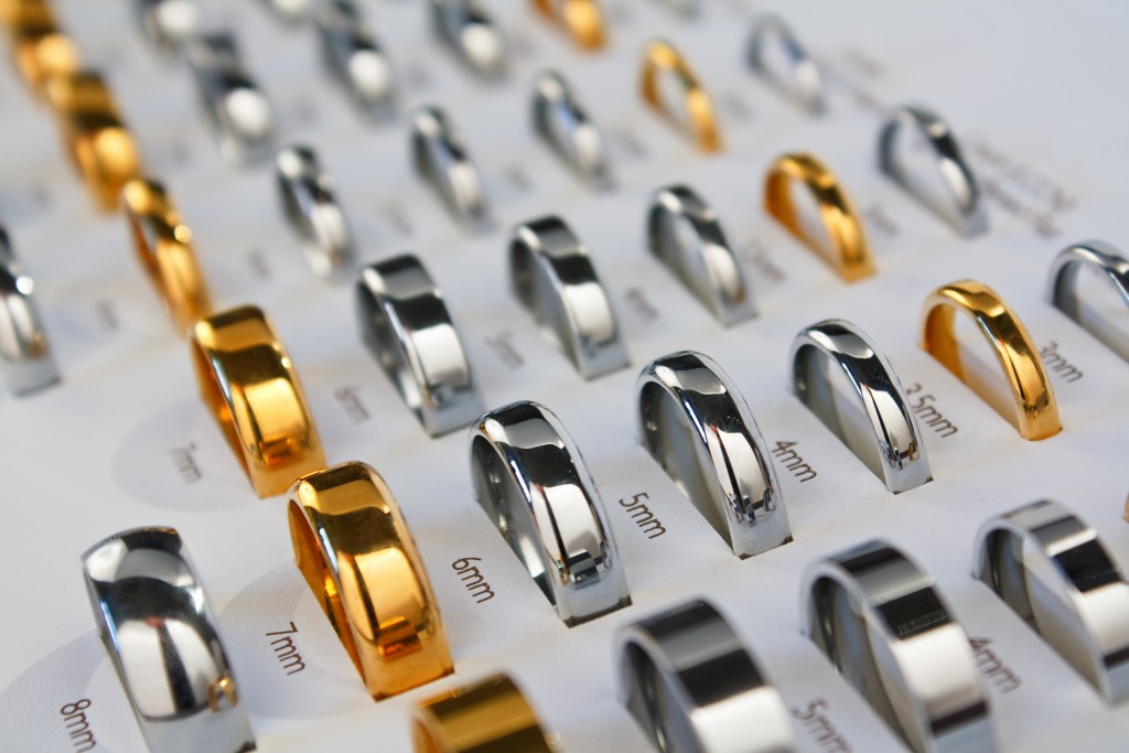 a selection of wedding rings