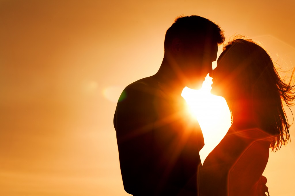 couple during a sunset