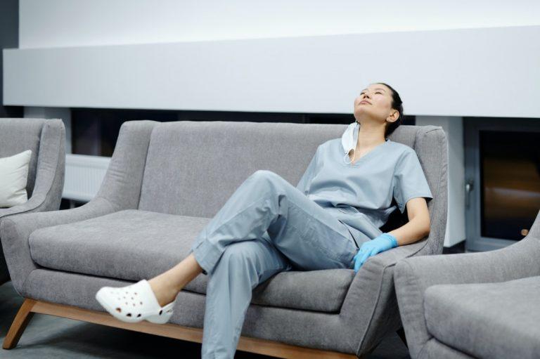 nurse resting