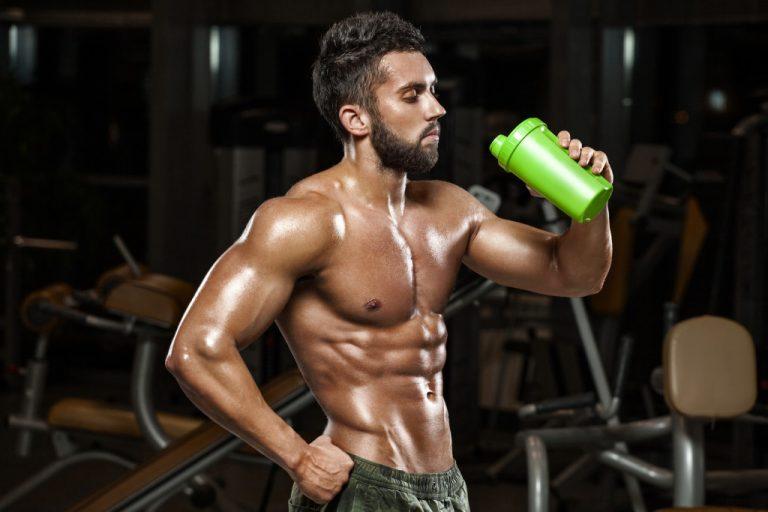 Athlete Drinking Shake